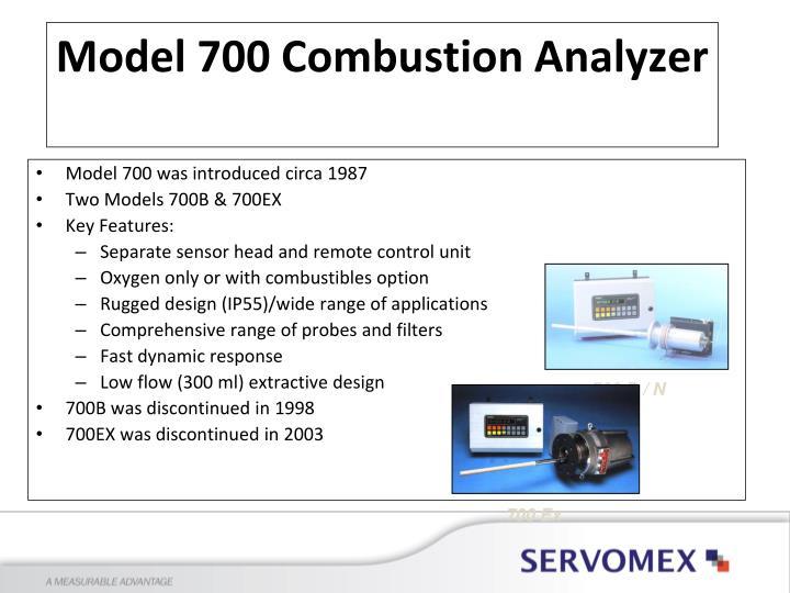 Model 700 was introduced circa 1987