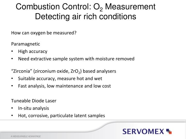 Combustion Control: O