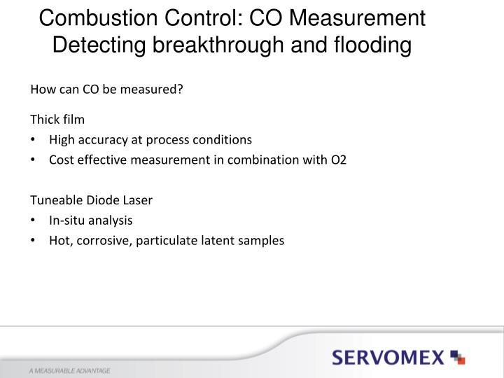 Combustion Control: CO Measurement