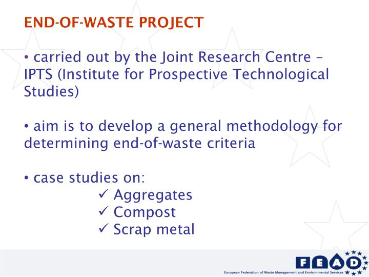 END-OF-WASTE PROJECT