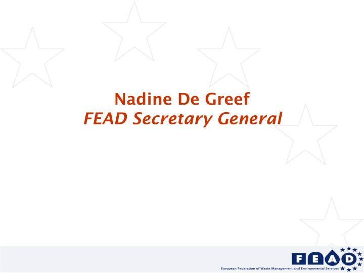 Nadine De Greef