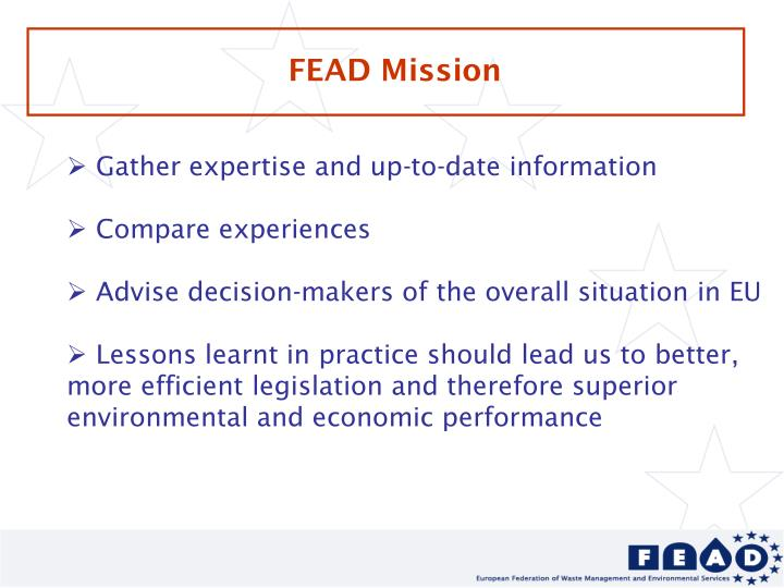 FEAD Mission