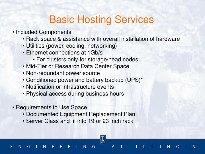 Basic Hosting Services