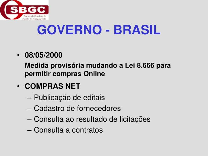 GOVERNO - BRASIL