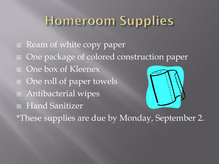Homeroom Supplies