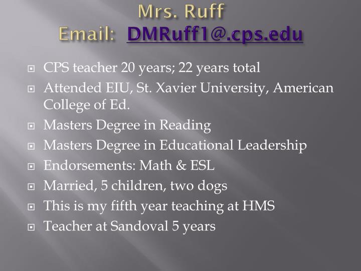 Mrs. Ruff