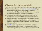 classes de universalidade