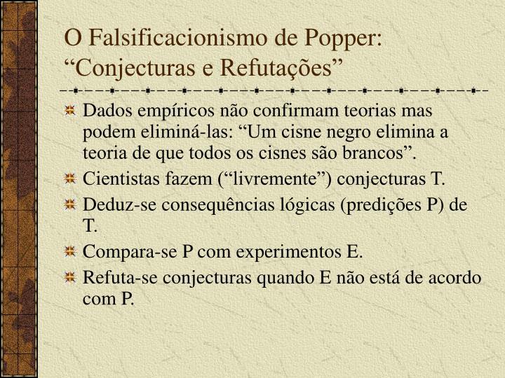 """O Falsificacionismo de Popper: """"Conjecturas e Refutações"""""""