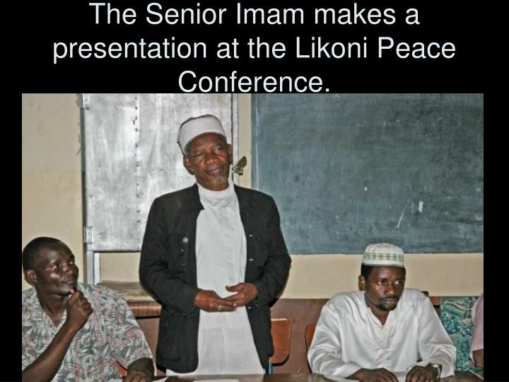 The Senior Imam makes a presentation at the Likoni Peace Conference.