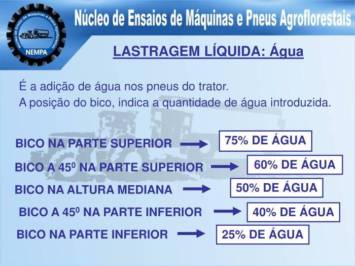 LASTRAGEM LÍQUIDA: Água