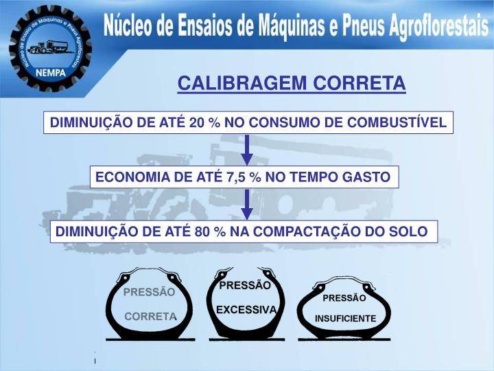 CALIBRAGEM CORRETA