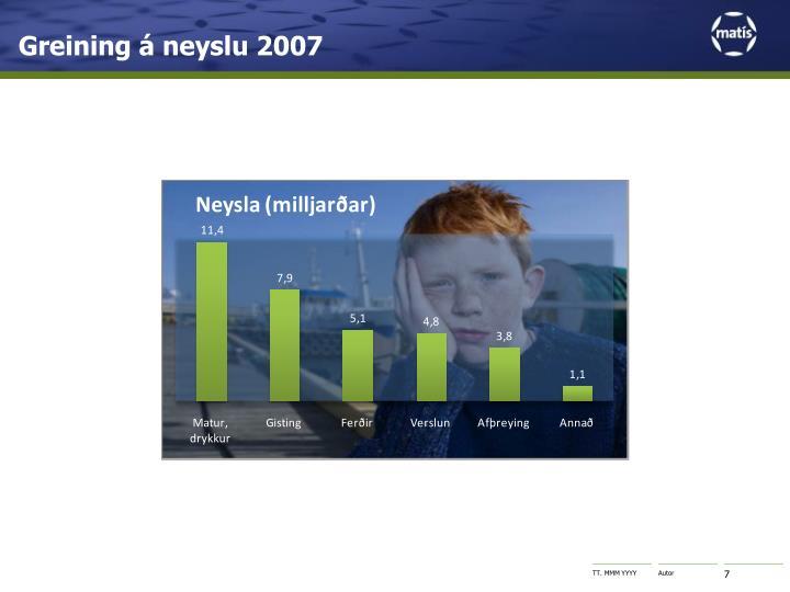Greining á neyslu 2007
