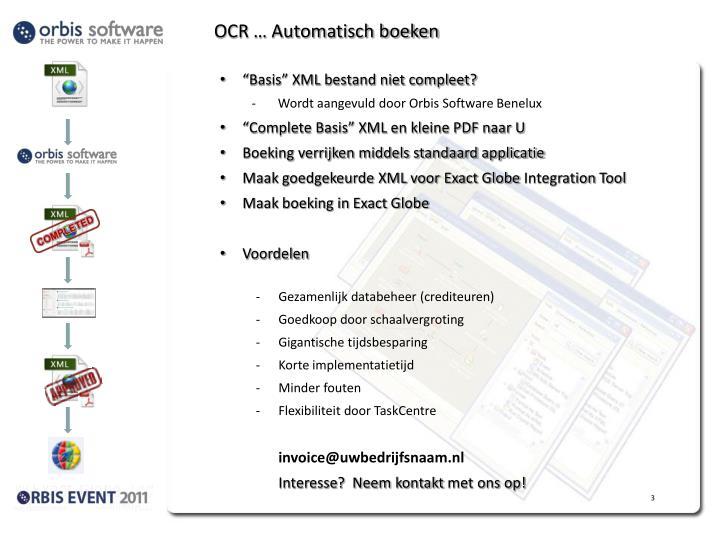 OCR … Automatisch boeken
