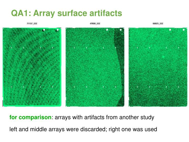 QA1: Array surface artifacts
