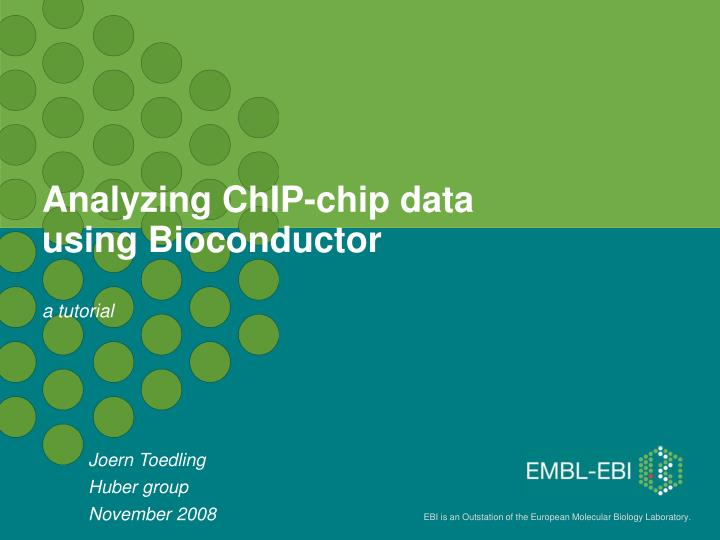 Analyzing ChIP-chip data