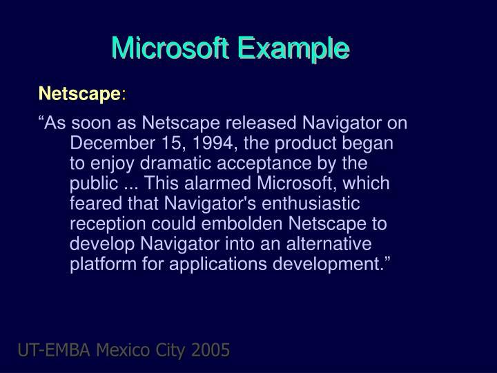 Microsoft Example