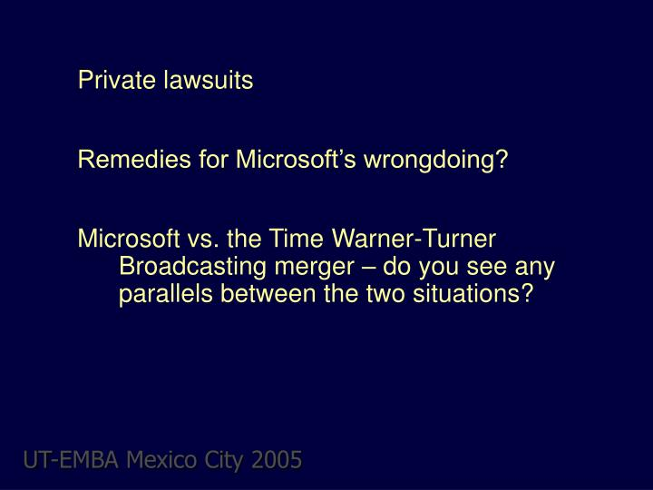 Private lawsuits
