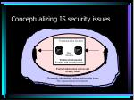 conceptualizing is security issues