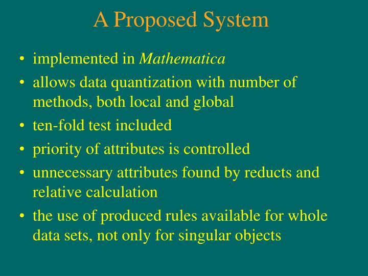 A Proposed System