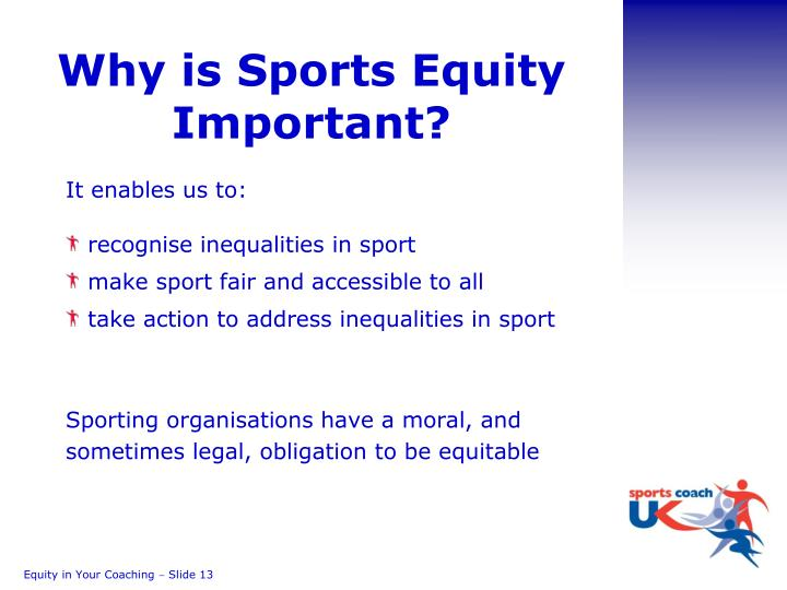Why is Sports Equity Important?