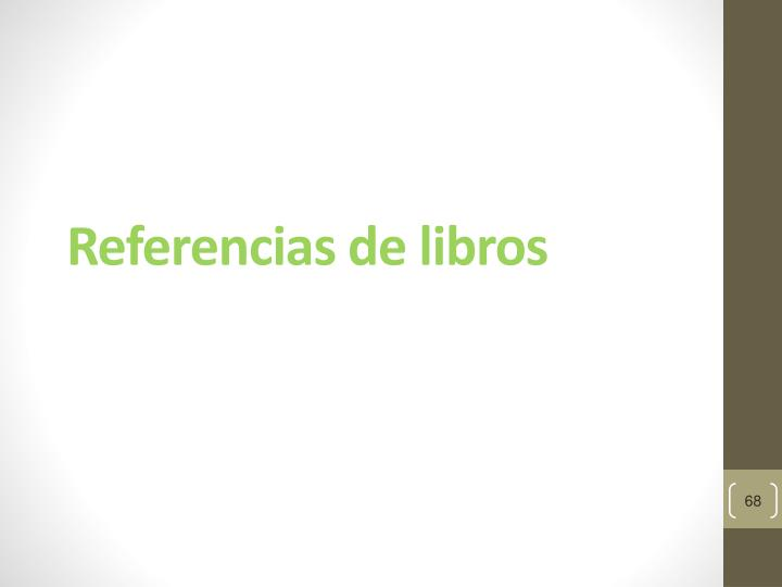Referencias de libros