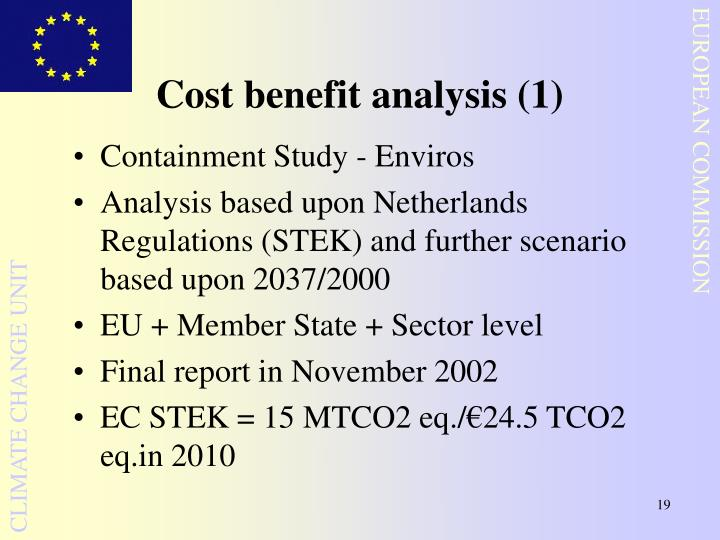 Cost benefit analysis (1)