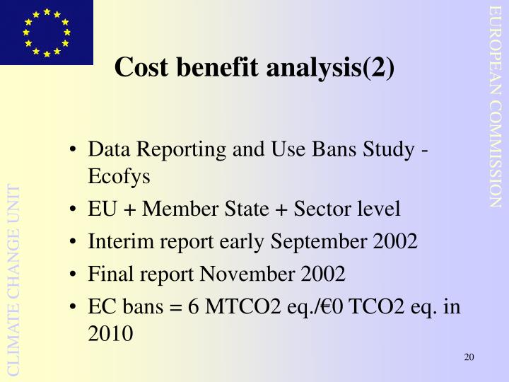 Cost benefit analysis(2)