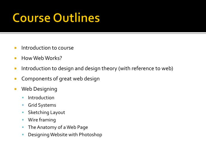 Course Outlines