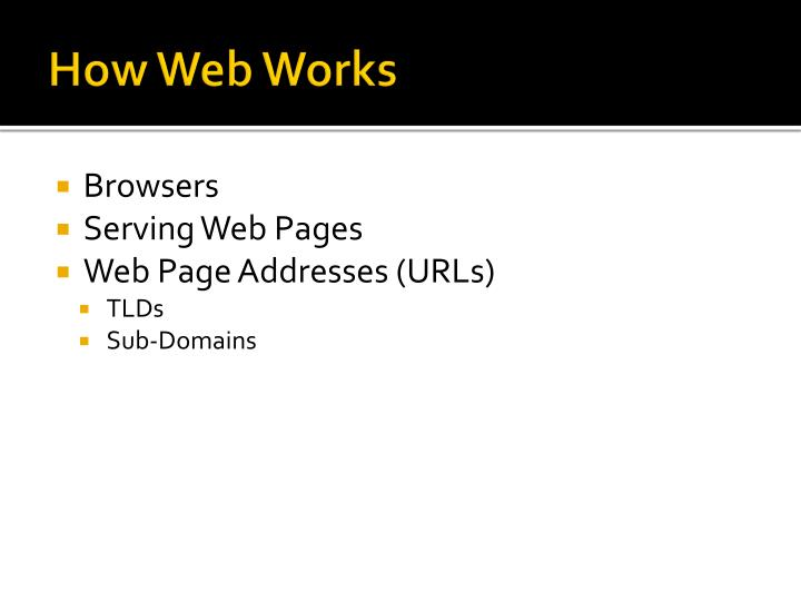 How Web Works