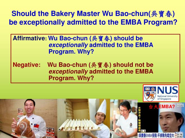 Should the Bakery Master Wu Bao-chun(