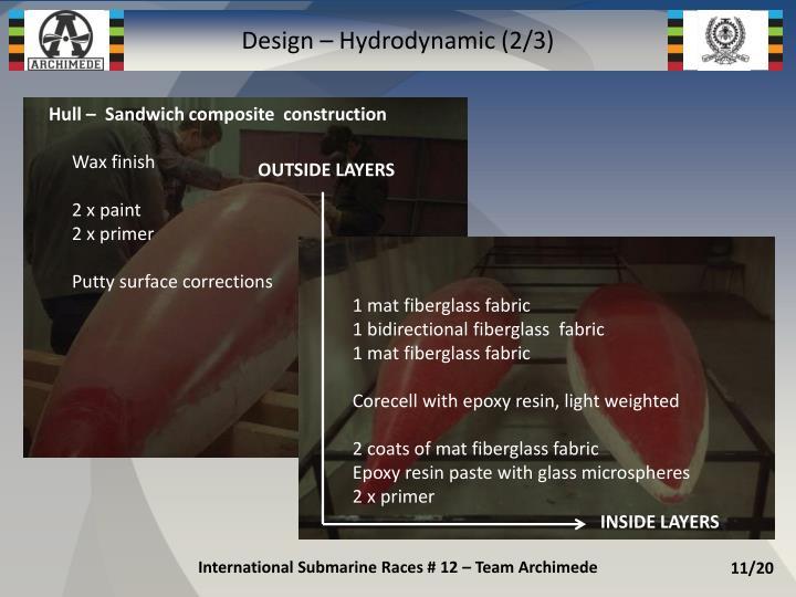 Design – Hydrodynamic (2/3)