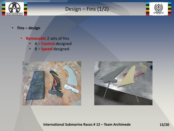 Design – Fins (1/2)