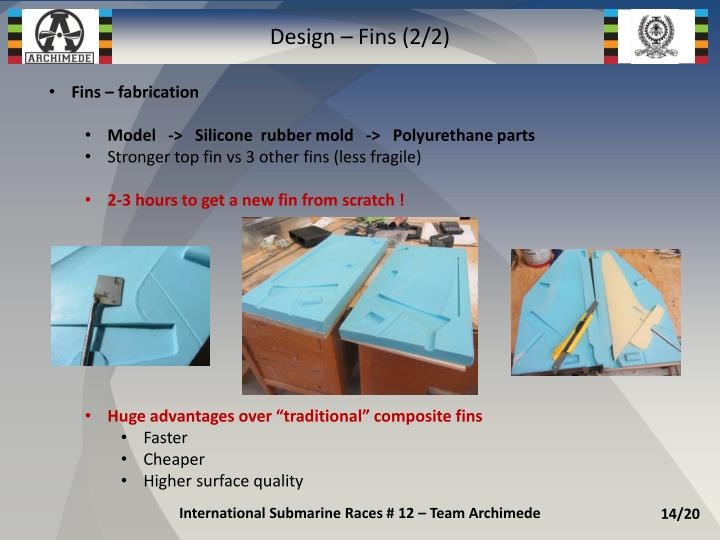 Design – Fins (2/2)