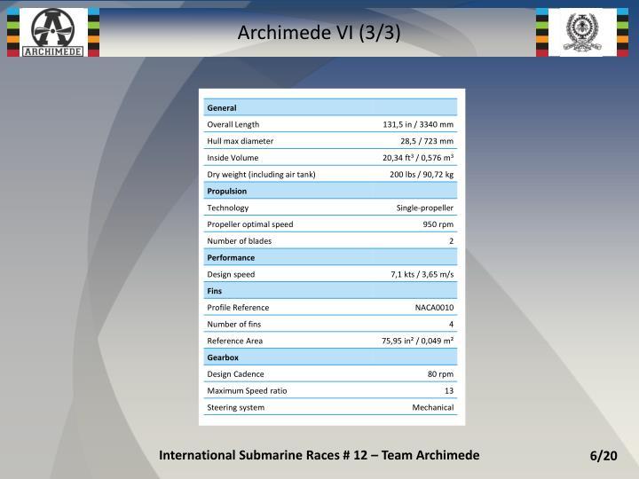 Archimede VI (3/3)