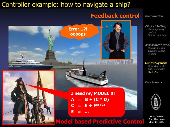 Controller example: how to navigate a ship?