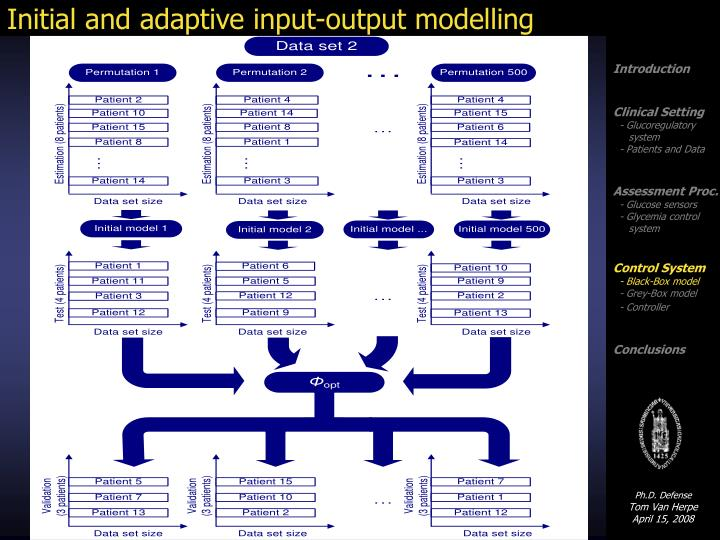 Initial and adaptive input-output modelling