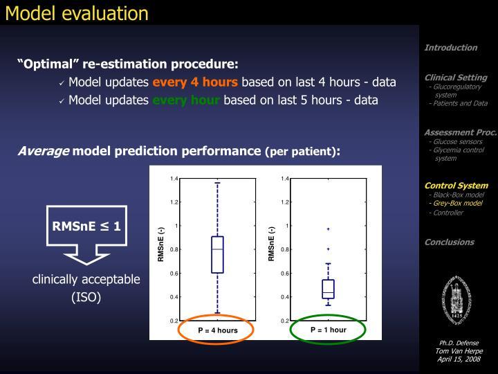 Model evaluation