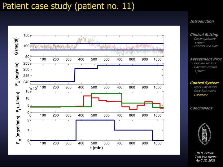 Patient case study (patient no. 11)