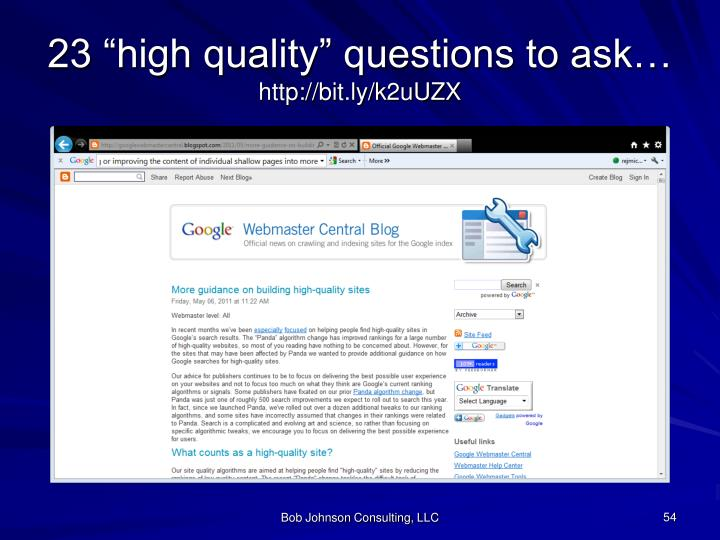 """23 """"high quality"""" questions to ask"""