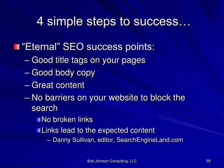 4 simple steps to success…
