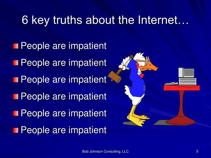 6 key truths about the Internet…