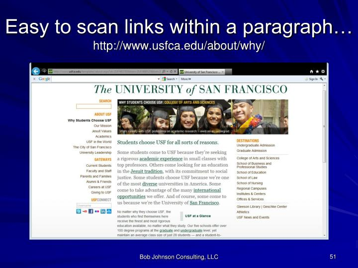 Easy to scan links within a paragraph…