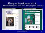 every university can do it http alfredmagazine alfred edu http magazine biola edu