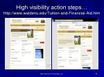 high visibility action steps http www waldenu edu tuition and financial aid htm