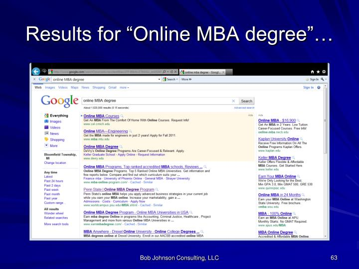 """Results for """"Online MBA degree""""…"""