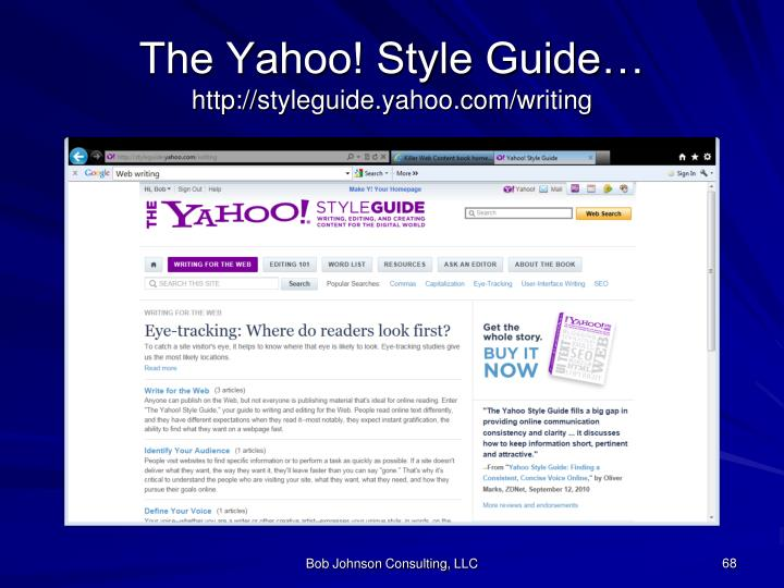 The Yahoo! Style Guide…
