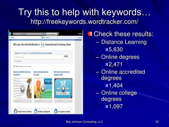 Try this to help with keywords…