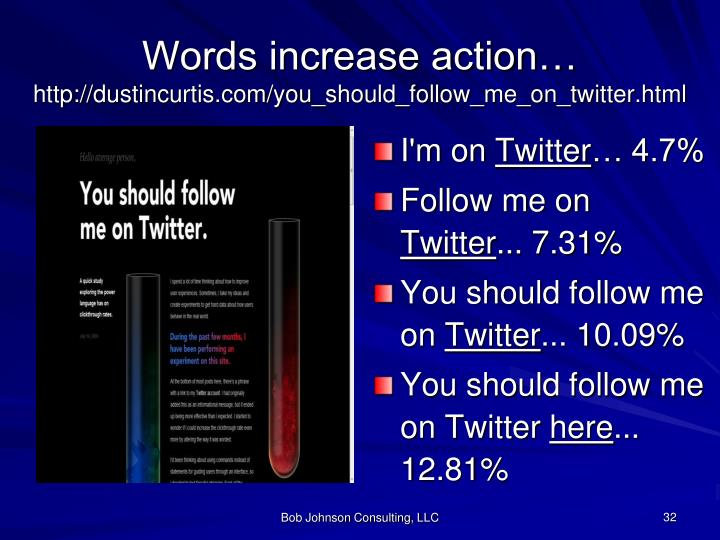 Words increase action…