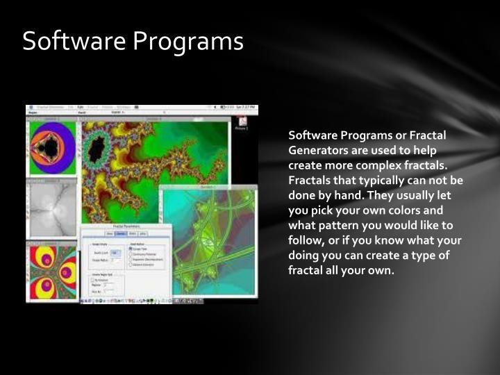 Software Programs