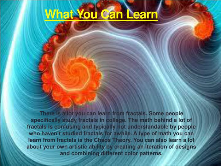 What You Can Learn